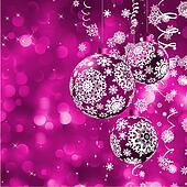 Elegant Christmas card with balls. EPS 8