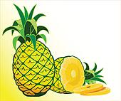 Fresh pineapple illustration