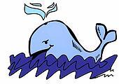 doodle blue whale