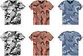 Men's Military T-Shirts v-neck