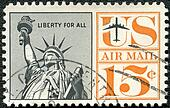 UNITED STATES OF AMERICA - 1959: shows Statue of Liberty