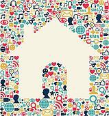 Social media house texture