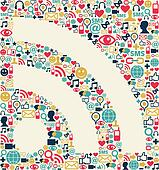 Social media RSS icon texture