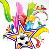 abstract colorful background with football