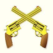 Old gold handgun