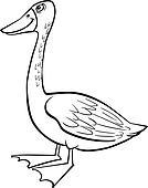 Cartoon goose coloring page