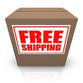 Free Shipping Brown Cardboard Box Order Shipment