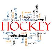 Hockey Word Cloud Concept