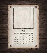 Calendar 2014, vintage paper