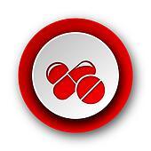 medicine red modern web icon on white background