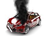 Red car burn