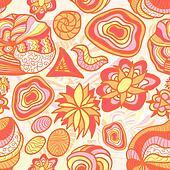 Hand drawn funny orange pattern