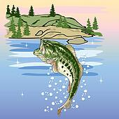 Jumping Bass at the Lake