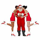 Santa Claus with friends