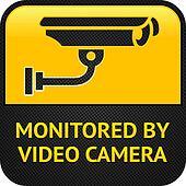 CCTV pictogram, web button