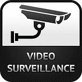 CCTV symbol, video surveillance, sign security camera