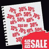 ig sale vector red