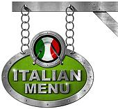 Italian Food Menu - Metallic Sign