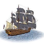 Sailing Ship of Royal Navy