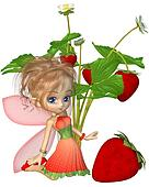 Cute Toon Strawberry Fairy