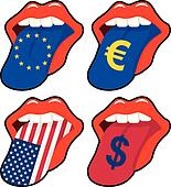 mouth euro dollar