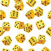 Vector yellow dice seamless