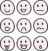 cartoon doodle faces