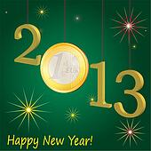 Symbols of New Year 2013 with Euro