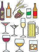 Cartoon Alcohol Related Items