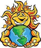 Solar Energy Happy Sun Cartoon