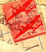 1946 CANCELLED AIR MAIL STAMP