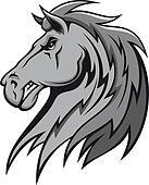 Angry gray stallion