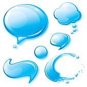 Water Speech Bubbles