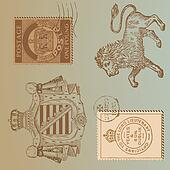 Set of Vintage Royalty Design Elements - High Quality -  in vector