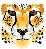 Cheetah Clip Art - Royalty Free - GoGraph