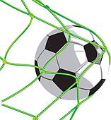 ball in goal - football