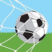 ball in goal - football
