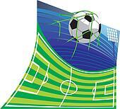 football stadium and football