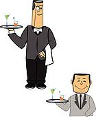 waiters in 2 styles