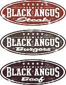 Vintage Black Angus Meat Stamp