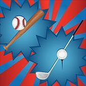baseball and golf