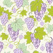 Creative seamless grape background.