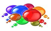 Social networking concept: colorful speech bubbles