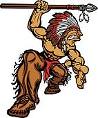 Indian Chief Mascot with Spear