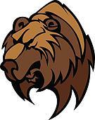 Bear Grizzly Mascot Head Vector