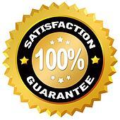 Satisfaction gurantee label