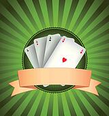 Casino Poker Aces Banner