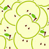 Apple vector illustration seamless pattern