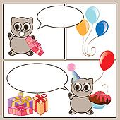 happy birthday cartoon card
