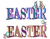 Easter text 3D